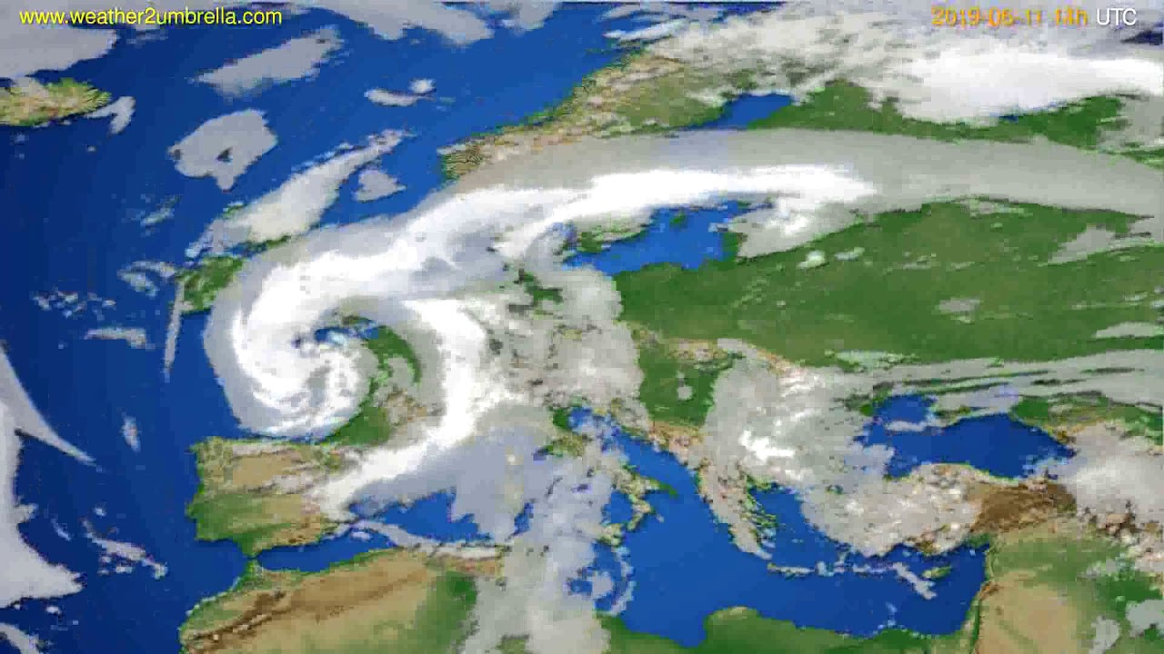 Cloud forecast Europe // modelrun: 12h UTC 2019-06-09