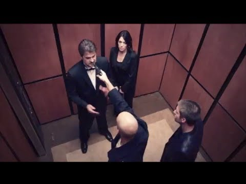 Victor Marx and wife fight attackers with gun, in elevator scene in film \