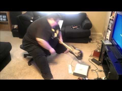 Fat Guy Destroys Xbox