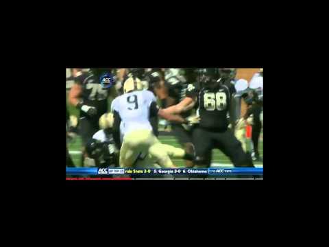 Michael Campanaro vs. Army 2012 video.
