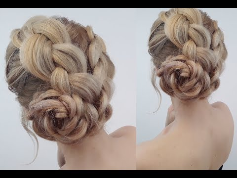 Braid hairstyles - ELEGANT HAIRSTYLE EASY BRAIDED BUN  Awesome Hairstyles