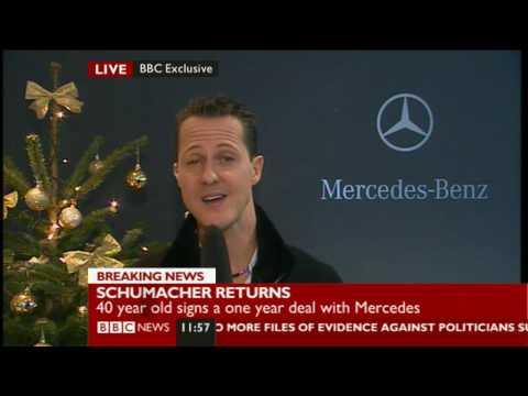 Michael Schumacher retorna a la Formula 1 con Mercedes