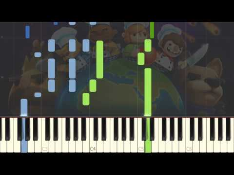 Overcooked - Menu Theme [Piano Tutorial] (Synthesia)