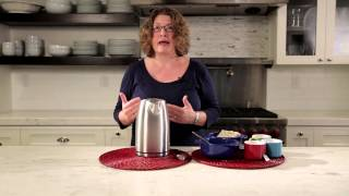 Electric Cordless Tea Kettle Demo Video Icon