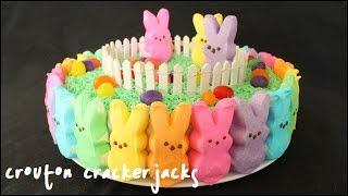 Rainbow Peeps Cake!! How to Make a Rainbow Peep Cake for Easter - YouTube
