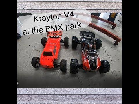 Arrma krayton v4 at BMX jumps
