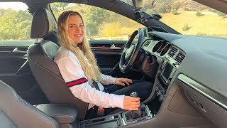 TEACHING MY SISTER HOW TO DRIVE MANUAL! by Vehicle Virgins