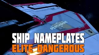 5. Elite Dangerous - Ship Nameplates and First 30mins as a Gunner