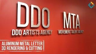 Aluminum Metal Letter 3D Rendering & Cutting