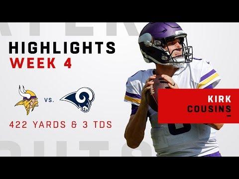 Video: Kirk Cousins' Huge Game w/ 422 Yards & 3 TDs