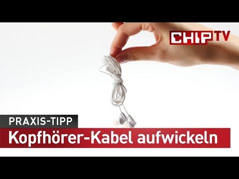 Kopfhörer-Kabel richtig aufwickeln - Praxis-Tipp deutsch | CHIP