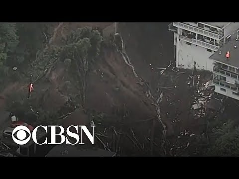 Atmospheric river in California causes destructive mudslides