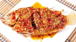 [Thai Food] Fried Fish With Chili Sauce (Pla Tub Tim Rad Prik)