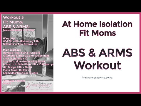 Home Workout: FULL At Home Abs and Arms Isolation Workout for Fit Mums