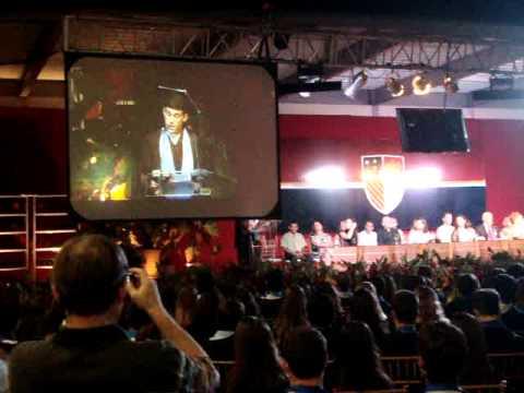 Discurso de formatura, orador de série, Santo Inácio 2011
