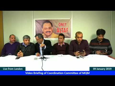 Video Briefing Of Coordination Committee Of MQM Held On 9 January 2019
