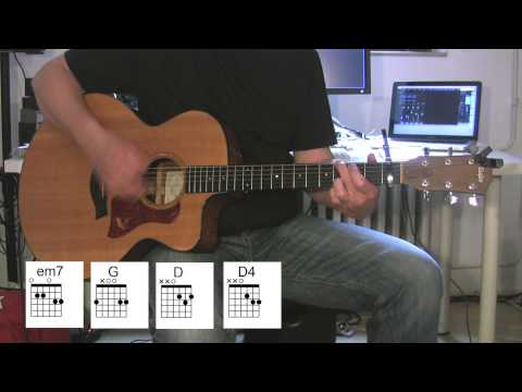 """Kings And Queens"" Acoustic Guitar With Original Vocals And Chord Diagrams, 30 Seconds To Mars"