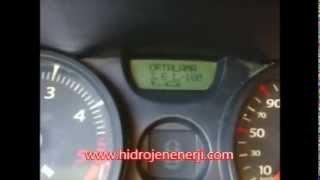 Renault 1,5 Dci Bir depo ile 1600 kilometre ( UCR Hidrojen Yakıt Tasarruf cihazları )