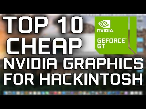 TOP 10 NVIDIA cheap GPU's for Hackintosh | OS X Yosemite - OS X El Capitan (видео)