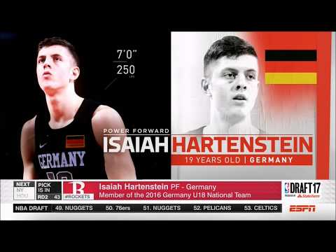 Houston Rockets select Isaiah Hartenstein with 43rd pick of 2017 NBA Draft