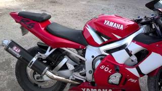 5. 2002 Yamaha YZF R6 walk around and rev-up