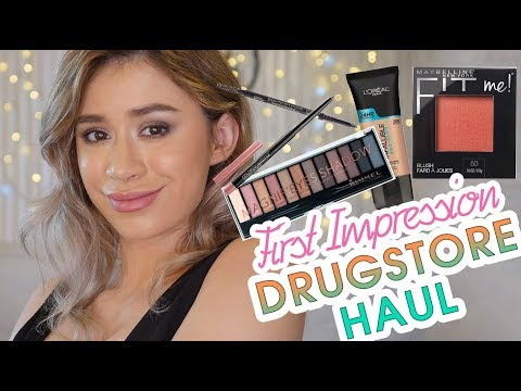Make up - FULL FACE FIRST IMPRESSION & DRUGSTORE MAKEUP HAUL!