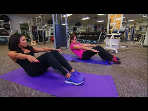 Ab workout: Trainer to the stars shows Robin how to get sexy abs! (видео)