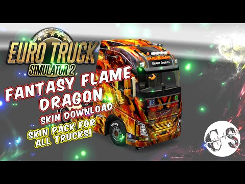 Fantasy Flame Dragon Skin Pack for All Trucks