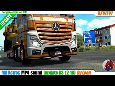 MB Actros MP4 sound update 03.12.18 v1.0