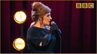 How would the real Adele do if she was auditioning as an Adele impersonator? Catch up with Adele at the BBC on BBC iPlayer: http://bbc.in/1MsfGSu.