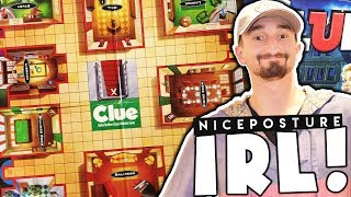 REAL LIFE CLUE BOARD GAME WHO DID IT MYSTERY? - NICE POSTURE GAME NIGHT