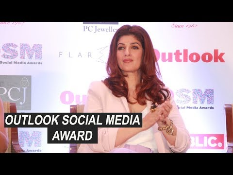 Twinkle Khanna At The Press Conference Of Outlook Social Media Awards