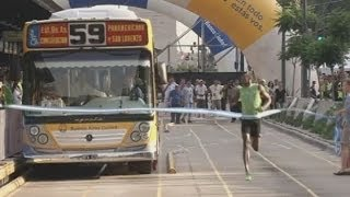Usain Bolt: Can the world's fastest man beat a bus?