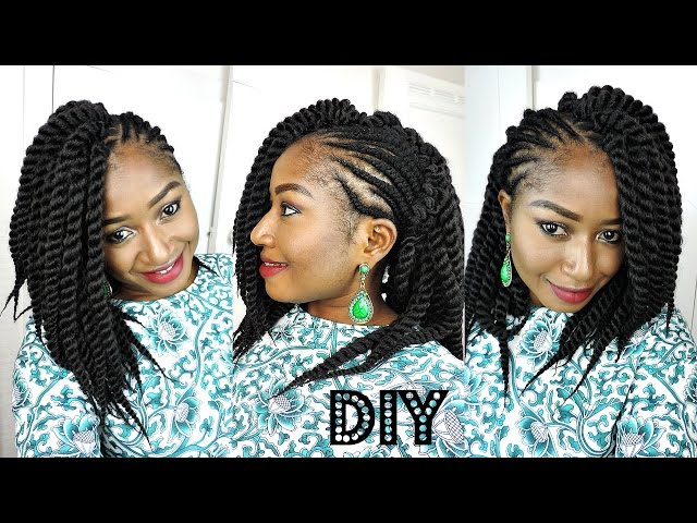 Crochet Braids On One Side : DIY ONE SIDED MOHAWK MAMBO TWIST CROCHET BRAIDS