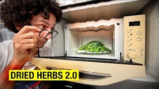 Can You Dry Herbs Better Using a Microwave ? by Alex French Guy Cooking