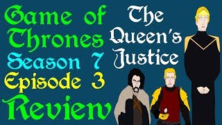 "A brief review of Game of Thrones, Season 7 Episode 3, titled The Queen's Justice, including top 5 moments, line of the episode, kill of the episode and a final score. Exploring from Daenerys on Dragonstone to the attack on Casterly Rock and Highgarden. Based on the series A Song of Ice and Fire by George R R Martin.Support Civilization Ex with a Monthly Pledge of your choice at:https://www.patreon.com/civilizationexFollow us https://twitter.com/civilizationexVisit our Site: http://www.civilizationex.com/Music By RFGBc: https://www.youtube.com/channel/UCQKGLOK2FqmVgVwYferltKQMusic by Ross Bugden (RFGB): ""Ice and Fire""https://www.youtube.com/channel/UCQKG...If you would like to show your support, please Donate! :)https://www.paypal.com/cgi-bin/webscr..."