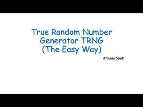 True Random Number Generator TRNG
