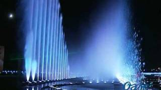 The spectacular fountains in Ordos, Inner Mongolia