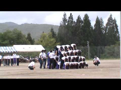 2014美麻小中学校運動会_組体操
