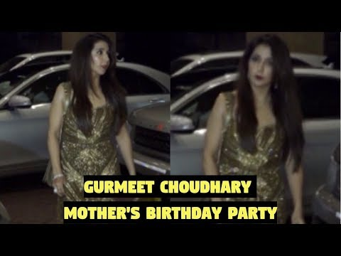 Krishika Lulla Attends Gurmeet Choudhary Mother's Birthday Party