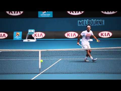Federer Arrives At Melbourne Park