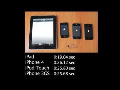 Prueba de velocidad al arrancar iPhone vs iPad vs iPod Touch