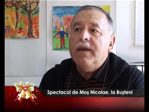 Spectacol de Moş Nicolae, la Buşteni