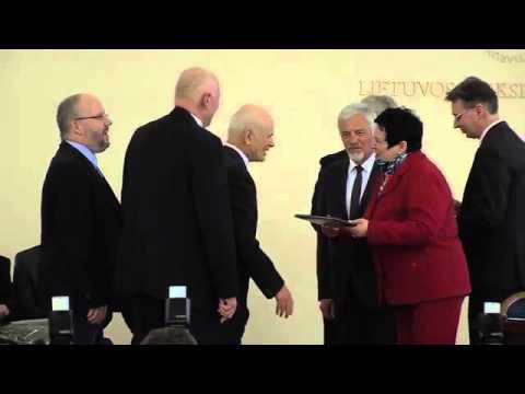 2015 m. Lietuvos mokslo premijų diplomų teikimas