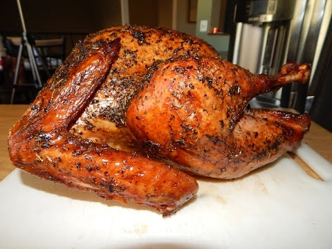 Cooking a Turkey on your Outdoor Grill - Smoked Turkey - Weber Kettle Grill