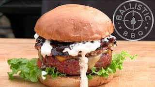 Smoked Steak Burger On The Lone Star Grillz Offset Vertical! by Ballistic BBQ