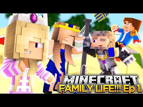MINECRAFT FAMILY LIFE (EP. 1)- OUR FIRST FAMILY VACATION!!!- Minecraft - Baby Leah Adventures.