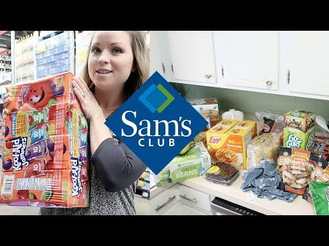 SAMS CLUB SHOP WITH ME | GROCERY HAUL