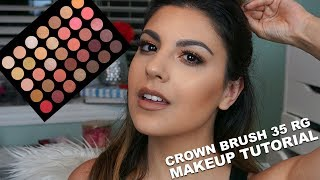 Don't forget to subscribe here: https://www.youtube.com/subscription_center?add_user=amandamariabeauty06Happy Monday! I hope you had a fantastic weekend! Today's video is a full tutorial using the Crown Brush 35 Rose Gold Palette! I adore this palette and I can't believe this is my first tutorial here on my channel using it! If you missed it, here is the full review on the Crown Brush 35 Rose Gold Palette: https://youtu.be/T9YhRLwor6g►For Business Inquiries: amandamaria.speroni@gmail.com►Come say hi!!♡ INSTAGRAM ♡ https://instagram.com/amandasperoni/♡ TWITTER ♡ https://twitter.com/amandasperoni♡ FACEBOOK ♡ https://www.facebook.com/AmandaSperoniYT/♡ SNAPCHAT ♡ AmandaSperoniYT►Products Used:Essence 2 in 1 eyeshadow primer in nude beige - http://bit.ly/2thRDUzCrown Brush 35 RG - http://bit.ly/2thA3QhArdell double up demi wispies - http://bit.ly/2thsOrDL'Oreal voluminous lash paradise mascara - http://bit.ly/2rNq8DKMakeup Forever step 1 hydrating base - http://bit.ly/2thuAc8Wet n Wild photo focus foundation in cream beige - http://bit.ly/2htRwPxIt Cosmetics bye bye under eye concealer in neutral medium - http://bit.ly/2tCrFdyUrban Decay naked skin concealer in light warm - http://bit.ly/2rFyGxKKat Von D shade + light palette in subconscious - http://bit.ly/2spMrhlEssence mosaic blush in all you need is pink - http://bit.ly/2rucouCMac give me sun - http://bit.ly/2sEROv9NYX Cosmetics duo-chromatic illuminator in synthetica - http://bit.ly/2rYNsxWNYX Cosmetics liquid suede in sandstorm - http://bit.ly/2sEFcEc►Previous Videos:⇢NYX Cosmetics Duo Chromatic Powders review: https://youtu.be/Ma-b-qd5KZA⇢June Beauty Favourites: https://youtu.be/W48mNwvJ-oo⇢L'Oreal Lash Paradise vs Too Faced Better Than Sex Mascara: https://youtu.be/NbUIiGO7mDI⇢ KKW x Kylie Cosmetics Swatches and Review: https://youtu.be/G6LUdk5Ox6s⇢Covergirl Healthy Elixir Foundation Review: https://youtu.be/oYrFfXCM72E⇢Full Face First Impressions: https://youtu.be/Dy4PeqDu39M►Music:Lostboys & Slashtaq - Elysium 