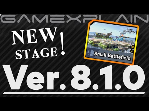 Smash Bros. Ultimate Gets a NEW Stage: Small Battlefield! - Ver. 8.1.0 Update Tour!